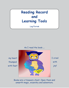 Picture of BE106 Year 5 Reading Record and Learning Tools (Grey) - Log Format