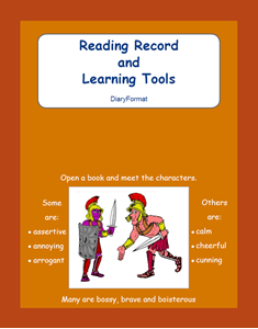 Picture of BE304 Year 3 Reading Record and Learning Tools (Brown) - Diary Format