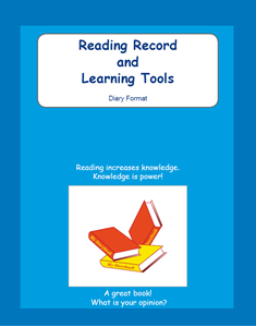 Picture of BE307 Year 6 Reading Record and Learning Tools (Blue) - Diary Format