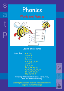 Picture of BPUW601 Words and Pictures - Letters and Sounds (Blue)