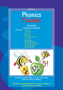 Picture of BPUZ501 Phonics Puzzles - Letters and Sounds (Blue)