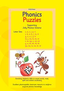Picture of BPUZ502 Phonics Puzzles - Jolly Phonics (Yellow)