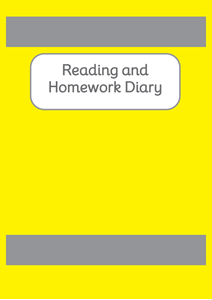Picture of BDA6-RHD Reading and Homework Diary (Yellow) - A6 Size