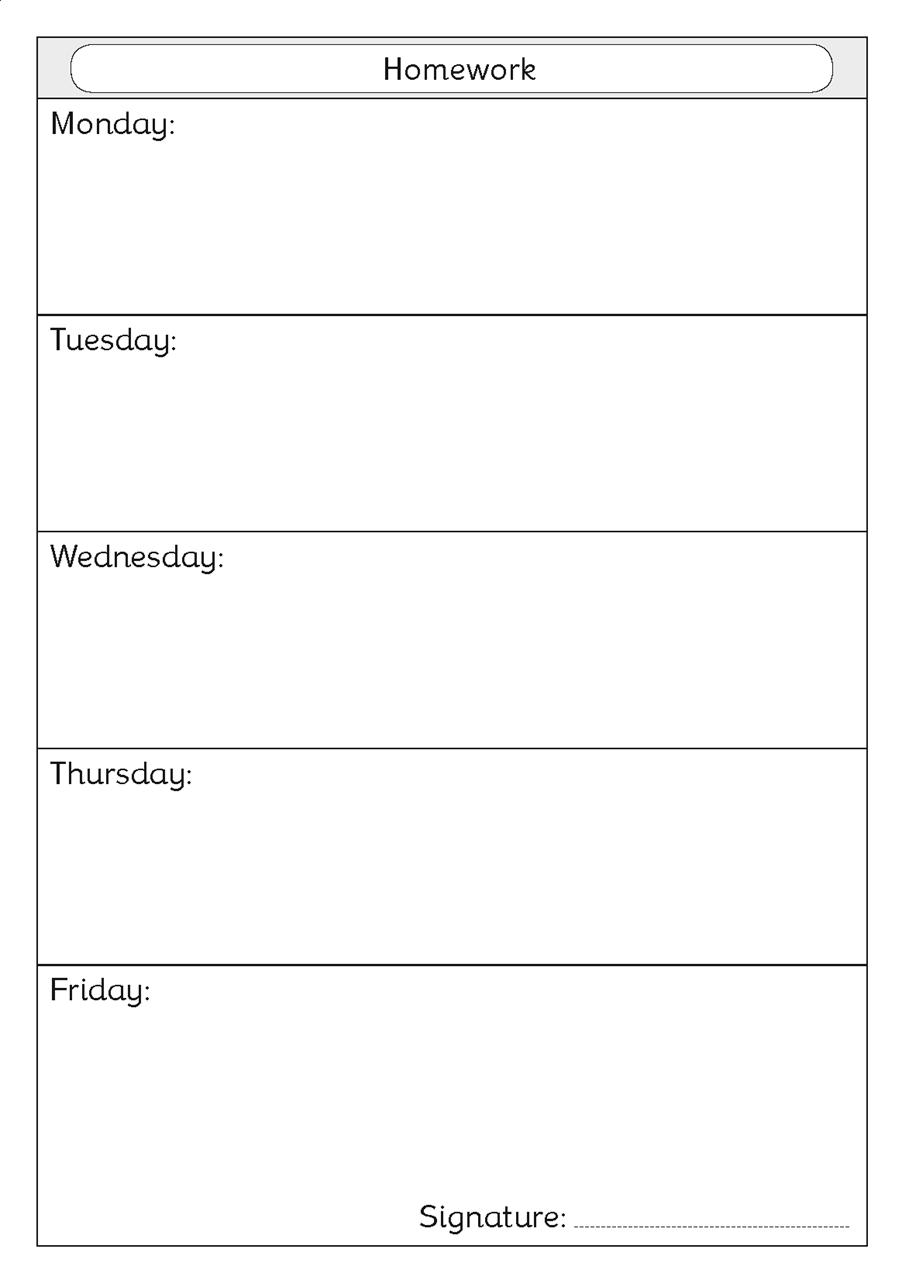 Custom homework diaries
