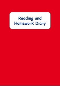 Picture of BDA5-RHD Reading and Homework Diary (Red) (Laminated Cover)- A5 Size