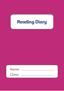Picture of BDA5-RD4 Reading Diary (Purple) (Matte Cover) - A5 Size