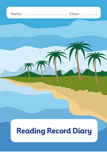 Picture of BDA5-R103 Y3 Reading Diary with Phonics(Tropical Beach) (Matte Cover) - A5 Size