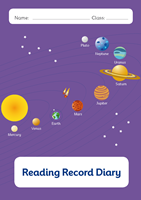 Picture of BDA5-R106 Y6 Reading Diary with Word list(Planets) (Matte Cover) - A5 Size